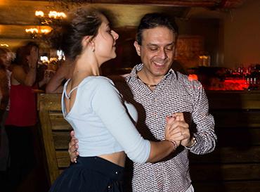 Shahid teaching a Salsa Class